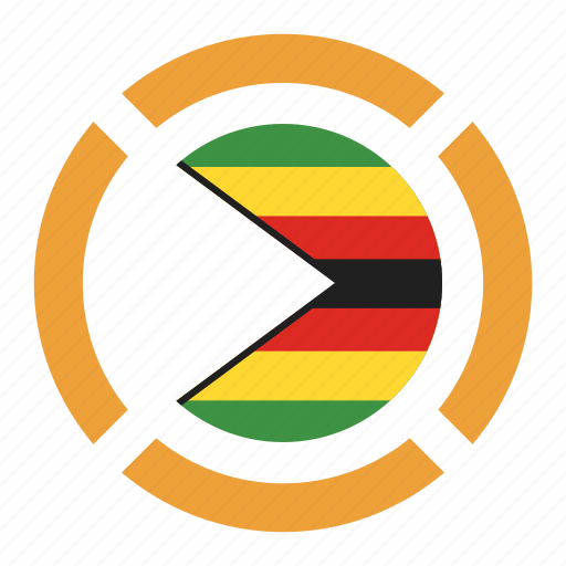 country, flag, location, nation, navigation, pin, zimbabwe icon