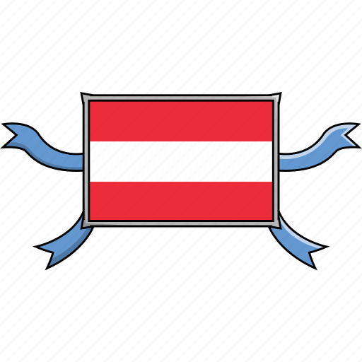 austria, country, flags, ribbon, shield, world icon