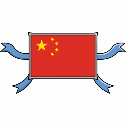 China, country, flags, ribbon, shield, world icon - Download on Iconfinder