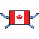 canada, country, flags, ribbon, shield, world