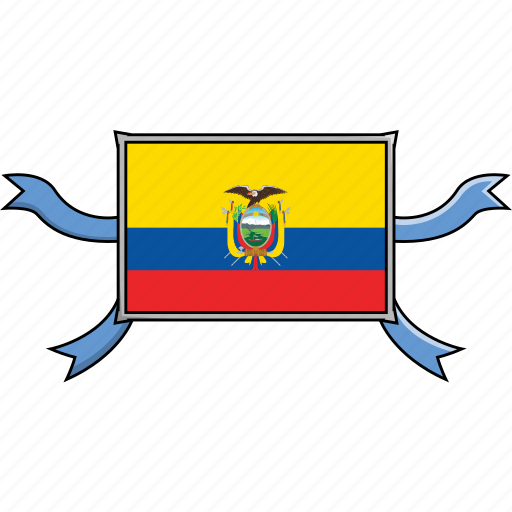 Country, ecuador, flags, ribbon, shield, world icon - Download on Iconfinder