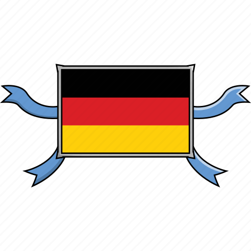 Shield, country, flags, world, germany, ribbon icon - Download