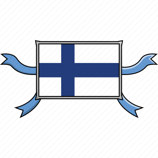 Country, finland, flags, ribbon, shield, world icon - Download on Iconfinder