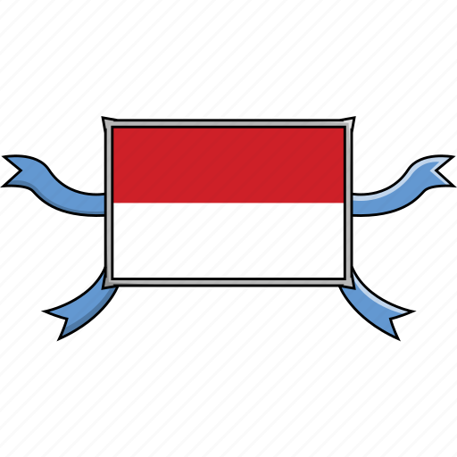 Country, flags, indonesia, ribbon, shield, world icon - Download on Iconfinder