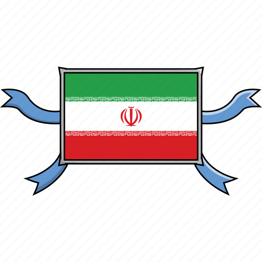 Country, flags, iran, ribbon, shield, world icon - Download on Iconfinder