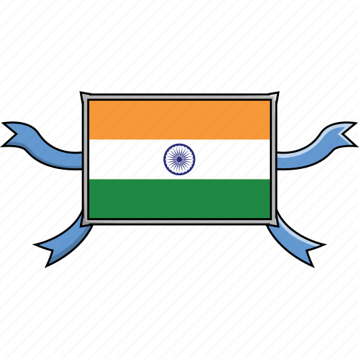 Country, india, flags, world, shield icon