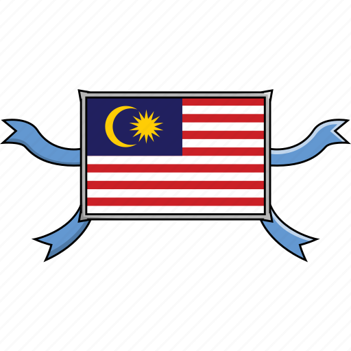 country, flags, malaysia, ribbon, shield, world icon