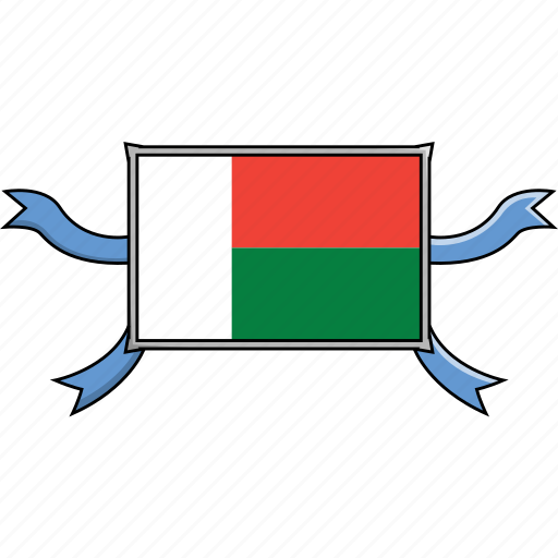 country, flags, madagascar, ribbon, shield, world icon