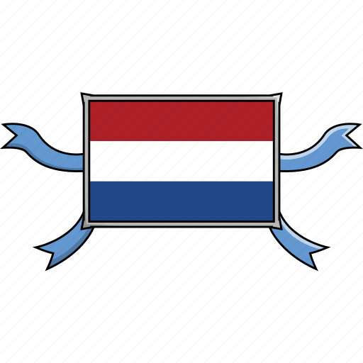country, flags, netherlands, ribbon, shield, world icon