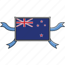 zealand, shield, country, flags, new, world, ribbon