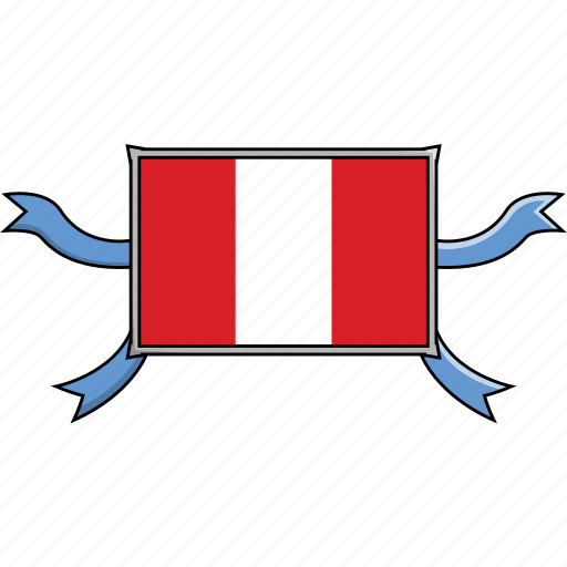 Country, flags, peru, ribbon, shield, world icon - Download on Iconfinder