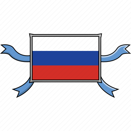 Country, flags, ribbon, russia, shield, world icon - Download on Iconfinder
