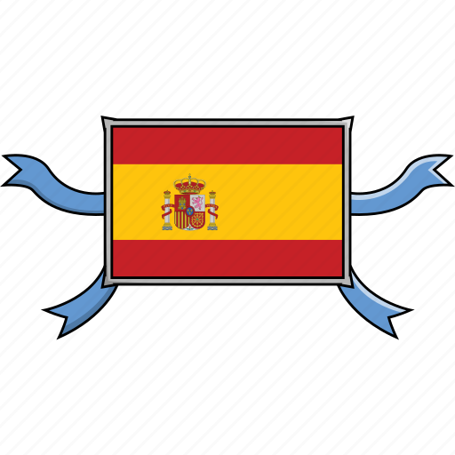 Country, flags, ribbon, shield, spain, world icon - Download on Iconfinder