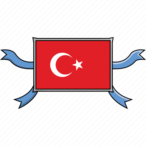 Country, flags, ribbon, shield, turkey, world icon - Download on Iconfinder