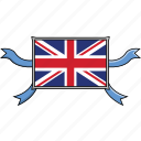 country, flags, kingdom, ribbon, shield, united, world icon