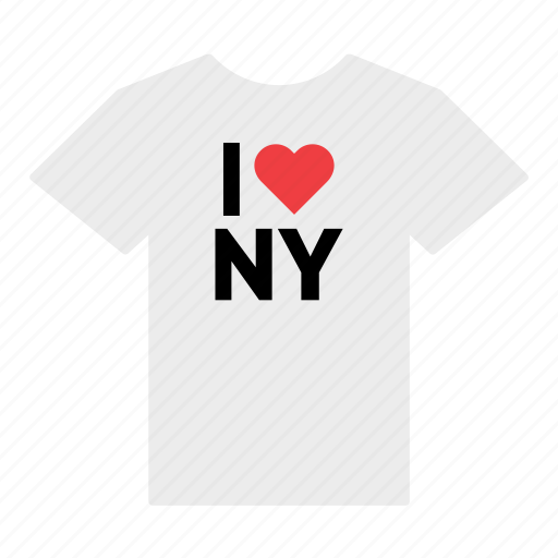 heart, i love, love, new york, shirt, t-shirt, united states icon