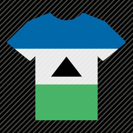 basotho, country, flag, jersey, lesotho, shirt, t-shirt icon
