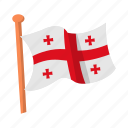 country, flag, georgian, national, state