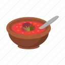 bowl, dish, food, national, soup, spoon icon