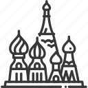 church, destination, mosque, red square, russia, temple, travel icon