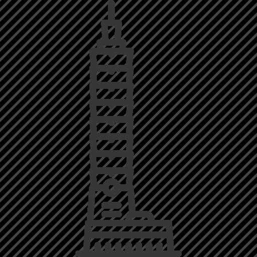 building, skyscaper, structure, taipei, taipei 101, taiwan, travel icon