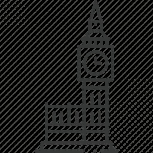 big ben, building, city, clock, england, london, structure icon