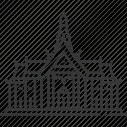 bangkok, church, grand palace, mosque, park, temple, thailand icon