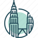 kl, kuala, lumpur, malaysia, petronas tower, tower, twin tower icon