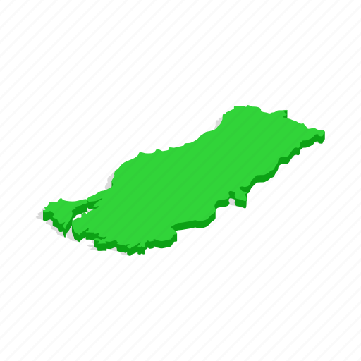 ankara, country, geography, isometric, map, state, turkey icon
