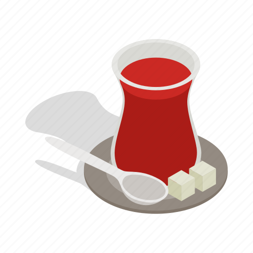 drink, hot, isometric, tea, traditional, turkey, turkish icon