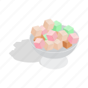 candy, delight, food, isometric, sugar, sweet, turkish icon