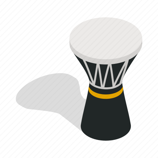 Drum, instrument, isometric, music, musical, percussion, traditional icon - Download on Iconfinder