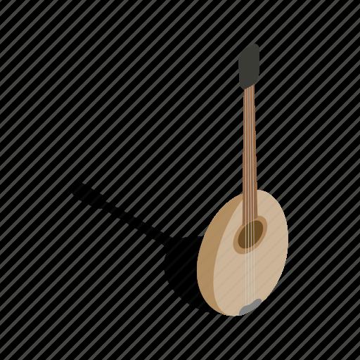 art, baglama, eastern, entertainment, instrument, isometric, sound icon