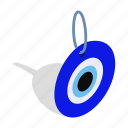 blue, eye, glass, good, isometric, luck, turkey icon