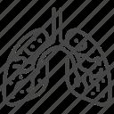 coronavirus, infection, virus, lung, covid, covid-19, disease icon