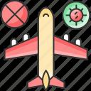 avoid, traveling icon