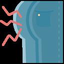 bottom, buttock, coronavirus, covid, pain, symptom icon