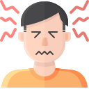 coronavirus, covid, headache, symptom icon