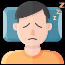 coronavirus, covid, fatigue, symptom, tired icon