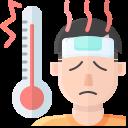 coronavirus, covid, fever, high, symptom, temperature icon