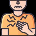chest, coronavirus, covid, lung, pain, symptom, tight icon
