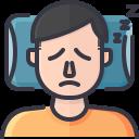 coronavirus, covid, fatigue, sleep, symptom, tired icon