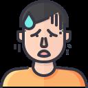 coronavirus, covid, fatigue, symptom, tired, weakness icon