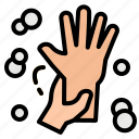 cleanliness, hand, hands, washing icon