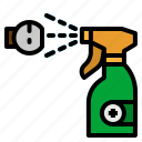 alcohol, clean, cleaning, foggy, spray icon