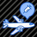 plane, delivery, vaccine, transportation