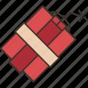 dynamite, bomb, explosive, destruction, detonation