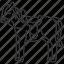 horse, stallion, ride, animal, transportation