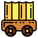 carriage, old, western, wheels icon