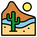 desert, landscape, nature, sun icon